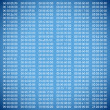 Blue binary computer code Stock Image