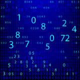 Blue binary computer code repeating  background . Eps 10  illustration Stock Image
