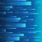 Blue binary computer code repeating  background . Eps 10  illustration Stock Photo