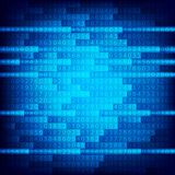 Blue binary computer code repeating vector background . Eps 10 vector illustration Royalty Free Stock Images