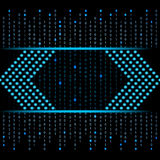 Blue binary data futuristic background Royalty Free Stock Photos