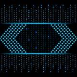 Blue binary data futuristic background Royalty Free Stock Photos