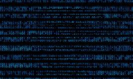 Blue binary domain code. Digital numbers illustration Stock Image