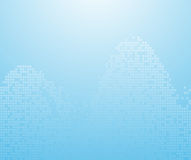 Blue binary waves - background royalty free stock photos