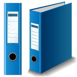 Blue binder Royalty Free Stock Images