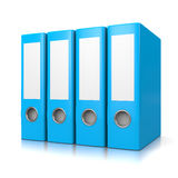 Blue Binders Royalty Free Stock Photos