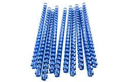 Blue binding springs Stock Photography