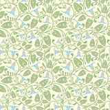 Blue bindweed. In one pattern Stock Image