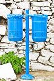 Blue bins Stock Image