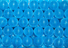 Blue bio balls Royalty Free Stock Photography