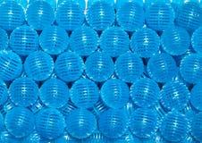 Blue bio balls. Closeup blue bio balls filter in aquarium Royalty Free Stock Photography