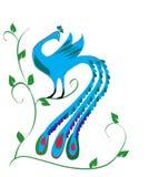 Blue bird. On white background Stock Images