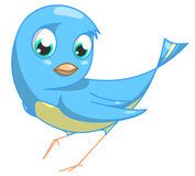 Blue bird. Funny blue sparrow. clipping path included Royalty Free Stock Photos