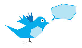 Blue bird royalty free illustration