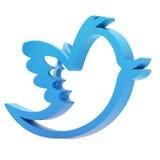 Blue bird. On white background Stock Photography