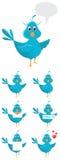Blue Bird. Cute blue social media bird Stock Image
