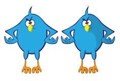 Blue bird. Angry blue bird (shading variation Stock Images