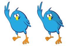 Blue bird. Waving (shading variation Stock Images