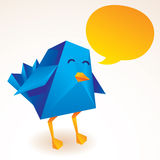 Blue bird. Illustraion in modern style Royalty Free Stock Photos