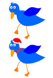 Blue bird. Cute blue bird white background illustration Stock Photos