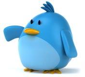 Blue bird. Fun blue bird, 3d generated picture Stock Photo