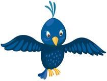 Blue bird. Illustration of isolated blue bird on white background Stock Photo