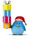 Blue bird. Fun blue bird, 3d generated picture Stock Image