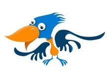 Blue bird. A blue bird with orange beak Stock Photography