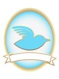 Blue Bird Abstract Oval Banner mascot Stock Photos