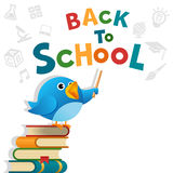 Blue Bird Back To School Stock Photo