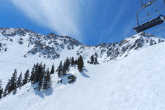 Blue Bird at A-Basin; Arapahoe Basin, Summit County, Front Range, Colorado Royalty Free Stock Photos