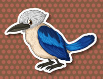 Blue bird on brown background Royalty Free Stock Photos