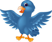 Blue bird cartoon Royalty Free Stock Photography