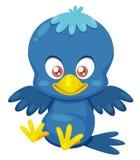 Blue bird cartoon Stock Photo