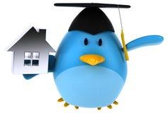 Blue bird - 3D Illustration Stock Photo