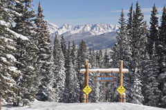 Blue Bird Day, Beaver Creek, Gore Range, Avon Colorado, Ski resort Royalty Free Stock Image