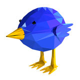 Blue bird geometric. illustration of a many Stock Photo