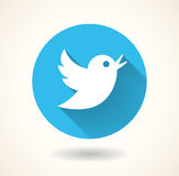 Blue bird icon isolated on white background. Vector social media Royalty Free Stock Images