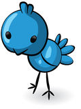 Blue bird illustration Royalty Free Stock Photo