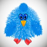 Blue bird, little chicken, icon stock illustration