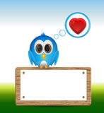 Blue bird in love Stock Photo