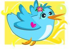 Blue Bird with a Loving Heart Royalty Free Stock Photos
