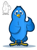 Blue Bird Mascot Stock Image