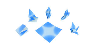 Blue bird Origami Royalty Free Stock Photography