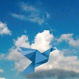 Blue bird sky Royalty Free Stock Photos