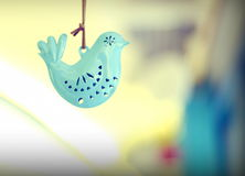 Blue bird on soft background Royalty Free Stock Photos