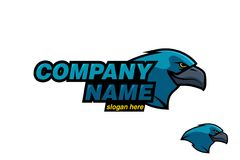 Blue Bird Sport logo, vector illustration Royalty Free Stock Photography