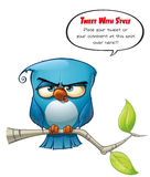 Blue Bird Strict. A blue bird avatar twits with style your comments or opinions to the world Stock Photos