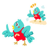 Blue bird talking Royalty Free Stock Image
