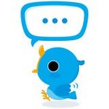 Blue bird tweet Stock Image